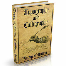 Calligraphy Penmanship and Typography Books -  MASSIVE 108 Vintage Books on DVD