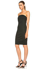 HELMUT LANG Cast Jersey Strapless Dress in Black Size Small S - MSRP $360