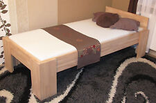 Echtholzbett Massivholzbett 120x200 Bettgestell Einzelbett Senioren Bett Fuß I