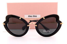 Brand New Miu Miu Sunglasses MU 11R 11RS 1AB1A1 Black/Gray Women 100% Authentic