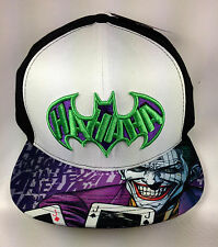 DC Comics Batman The Joker Snapback Flat Brimmed Baseball Cap/Hat NWT