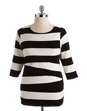 VINCE CAMUTO Womens Plus Tiered Striped Top Sz. XL