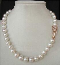 "20"" 10-11MM AAA++ GENUINE WHITE SOUTH SEA AKOYA PEARL NECKLACE"