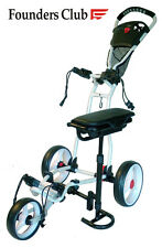 Founders Club Spider 3 Wheel Golf Push Cart with Seat - White