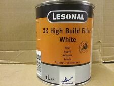 Lesonal 2K High Build Filler   White  1 litre    Primer Surfacer   AKZO