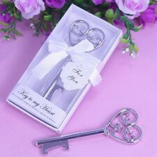 "Exquisite ""Key To My Heart"" Wine Bottle Opener Wedding Gift Party Favor"