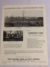 Gainesway Farm For Sale Ad 1956 Horse Racing