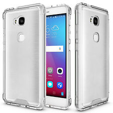 Clear Hybrid TPU Bumper Hard Back Phone Cover Case for Huawei Honor 5X