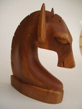 WOODEN CARVED HORSE HEAD - TEAK