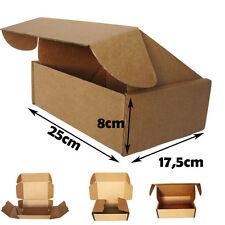 25 Cajas Postales 25x17,5x8cm.Automontables cartón canal simple.