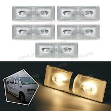 5x Warm White Interior Ceiling Dome Lights Fixture for RV Trailer Camper