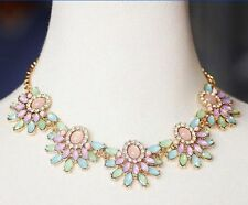 NEW Betsey Johnson Fashion Jewelry Multicolor Flower Holiday Party Necklace