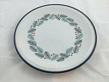 "DANSK Bistro CHRISTMAS Round 12"" Platter Pine Holly Berries HOLIDAY Chop Plate"