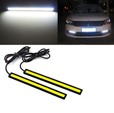 2x 12V Super Bright White Car COB LED Lights -DRL Fog Driving Lamp Waterproof