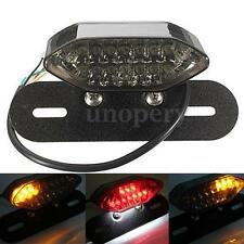 Smoke 20LED Motorcycle Brake Tail Turn Signal License Plate Integrated Light 12V