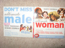 NEW ULTIMATE WOMAN & ULTIMATE MALE DOUBLE MUSIC CD 30 TRACKS BASSEY TOM JONES