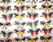 Wholesale 100Pcs Butterfly Mood Rings