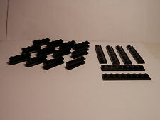 LEGOS  -  18 piece set of Door Rail Plates and Groove Bricks BLACK - Star Wars -
