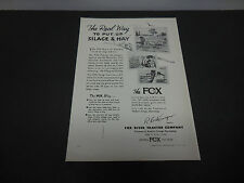 1946 Fox River Tractor Co. Appleton WI Print Ad The Real Way Put up Silage & Hay