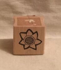 Stephanie Olin's Open Flower Wood Rubber Stamp