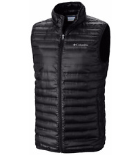 COLUMBIA Mens size SMALL Flash Forward Down Vest Black Lightweight Warm Jacket