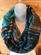 USA Seller!!!  Aztec Spring and Fall Infinity Scarves Scarf Light Weight Tribal