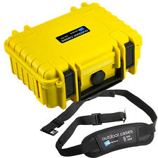 B&W Outdoor Hard Case 500 Yellow Foam Insert + Carry Strap 230 x 180 x 90mm
