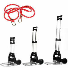 80KG ALUMINIUM INDUSTRIAL FOLDING HAND CART WHEEL TROLLEY SACK TRUCK HEAVY DUTY