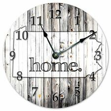 "PENNSYLVANIA RUSTIC HOME STATE CLOCK - Large 10.5"" Wall Clock - 2248"