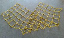 """1/2"""" Playground Climbing CARGO NET Rope 10' x 3' Foot Ninja Train Ladder Yellow"""