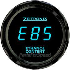 Zeitronix ECA-2 Ethanol Content Analyzer with Flex Fuel Sensor and Gauge Blue
