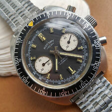 Vintage Rotary Two Register Diver Chronograph w/Reverse Panda Dial,Warm Patina
