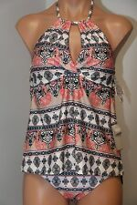 NWT BECCA Swimsuit Bikini Tankini 2 pc set Size L M American Fit Multi