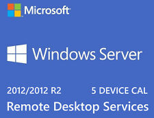 Microsoft Windows Server 2012 R2 Remote Desktop Services RDS 5 DEVICE CAL Key