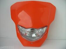 UNIVERSAL ENDURO MOTOCROSS STREETFIGHTER HEADLIGHT ORANGE KTM SX EXC SXF XCF LC4