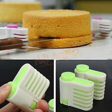 2PCs 5 Layers Kitchen DIY Cake Bread Cutter Leveler Slicer Cutting Fixator Tools