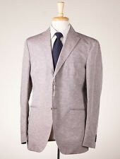 NWT $1395 CANTARELLI Superfine Linen-Cotton Sport Coat 42 R Heather Gray-Brown