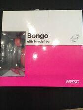 WESC BONGO seasonal Su Cuffie Auricolari Magenta Rosa Iphone NUOVO in scatola