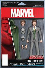 INTERNATIONAL IRON MAN #1 (2016) 1ST PRINTING! ACTION FIGURE VARIANT COVER