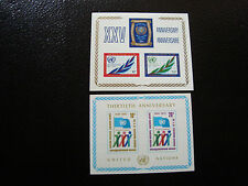 NATIONS-UNIS (new-york) - timbre - bloc yt n° 5 6 n** (Z1) stamp