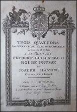 Joseph HAYDN (Composer): Quartets Op. 50 First German Edn