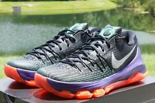 NEW NIKE KD 8 VIII SZ 15 BLACK WHITE GREEN SHOCK HYPER ORANGE 749375 013