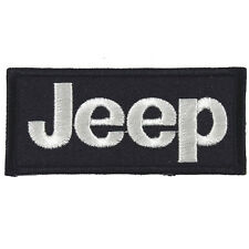 JEEP Embroidered Patch Embroidery Motor Emblem Mark 88x40mm Black