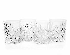 Crystal Whiskey Glasses Godinger Dublin, Double Old Fashioned Glass set of 4