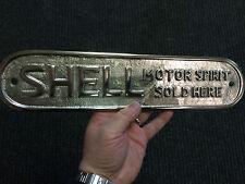 Large Shell Motor Spirit Sold Here polished Cast metal sign  Garage Sign