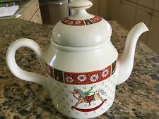 Kobe Christmas Classic Traditions CHARLTON HALL porcelain tea pot teapot w/lid
