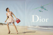 Publicité 1992  (double page)  DIOR  sac à main collection mode Marion Cotillard