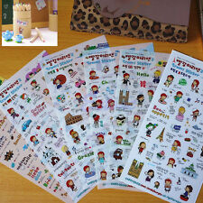 6 Sheets Cute Anne's Diary Travel Stickers Decoration Scrapbook Photo Korean