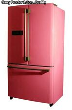 American fridge freezer none plumbed , 2 years guarantee pure pink   ref 311