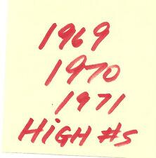 $3 each - you pick - 1969 / 1970 / 1971 / 1972 Topps Baseball high #s set